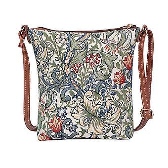 William morris - golden lily shoulder sling bag by signare tapestry / sling-glily