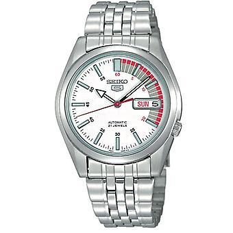 Seiko 5 automatische weißen Tacho Zifferblatt Herren Uhr SNK369K1