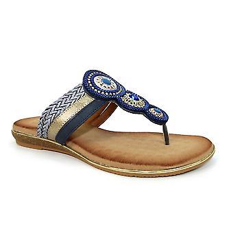 Lunar Carlotta Juvelerad tå post sandal