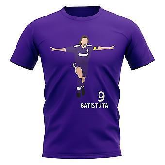 Gabriel Batistuta Fiorentina Camiseta Gráfica Jugador (Púrpura)