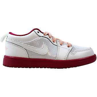 Nike Air Jordan 1 Low Flex White/Voltage Cherry-Storm Pink 554722-118 Pre-School