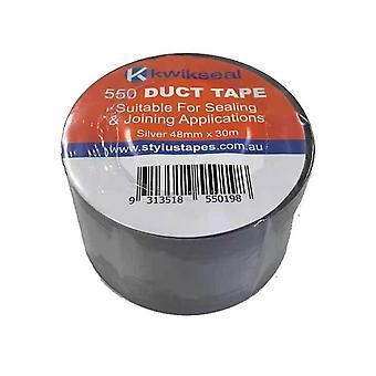 1 ロールシルバーダクトテープ48Mmx30Mx130UmロールシールPvc接着剤