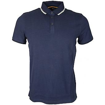 Hugo Boss Poltron Short Sleeve Cotton Navy Polo Shirt