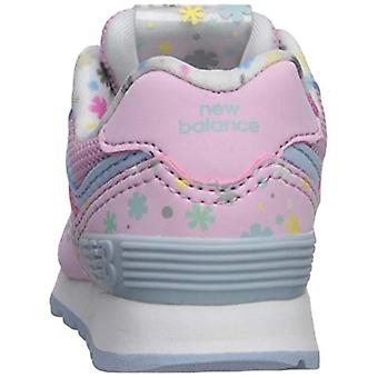 New Balance Girls 574v1 Lace-Up Sneaker, Crystal Rose/Su, 5.5 R M US Infant (...