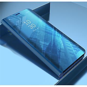 Stoff zertifiziert® Samsung Galaxy S10e Smart Mirror Flip Case Cover Case Blau