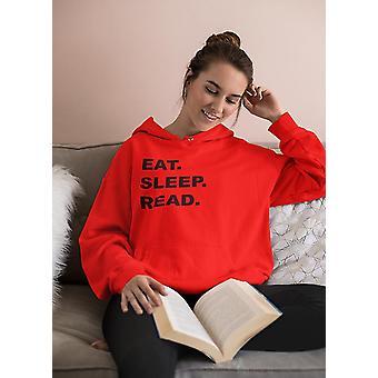Comer sudadera con capucha de lectura de sueño