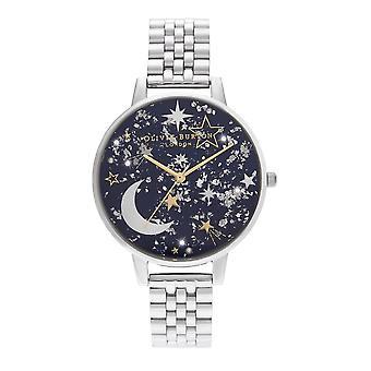 Olivia Burton Watches Ob16gd64 Celestial Navy Sunray, Gold & Silver Bracelet Stainless Steel Watch