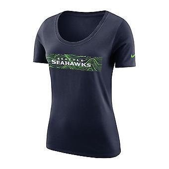 نايكي انتصاره سياتل Seahawks فريق تي شيرت سكوب المرأة