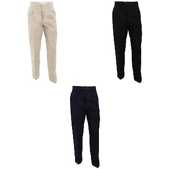RTY Workwear Mens Casual Stain Resistant Single Pleated Work Chinos