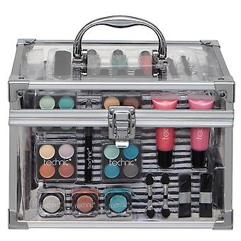Technic Essentials Large Clear Carry Case Filled With Cosmetics