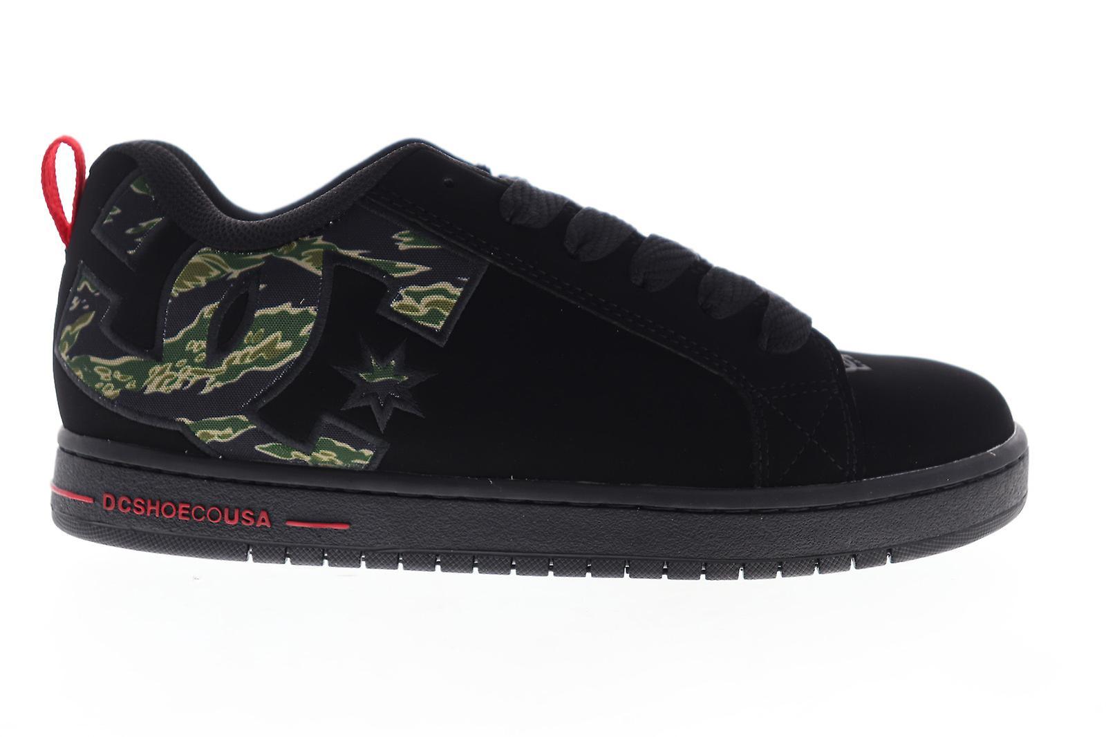 DC Court Graffik SE Mens Black Leather Lace Up Athletic Skate Shoes - Remise particulière