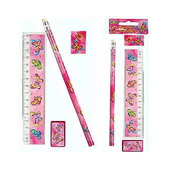 Butterfly Stationery Set for Party Bags | Butterfly Party Supplies Decoration