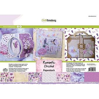 CraftEmotions Papier Stapel romantische Orchidee 11 Blatt A4