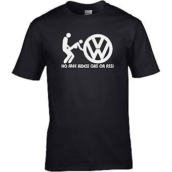 VW No Free Gas - Bobil - DTG Trykt T-skjorte