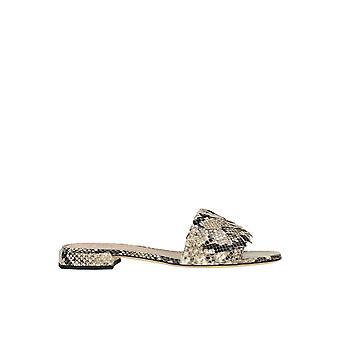 Alberto Gozzi Ezgl249022 Women's Grey Leather Sandals