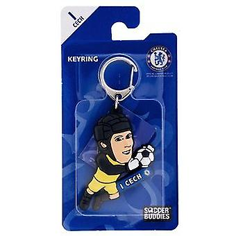 Chelsea Officially Licensed Soccer Buddies PVC Football Keyring - Petr Cech