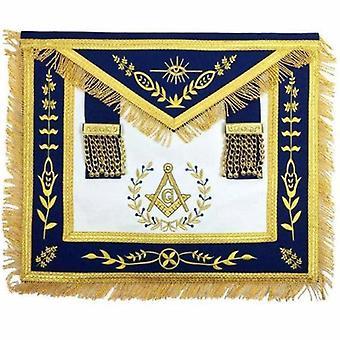 Freimaurer blau Lodge Meister Maurer gold Maschine Stickerei Schürze