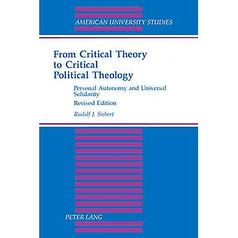 From Critical Theory to Critical Political Theology - Personal Autonom
