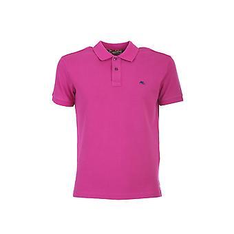Etro 1y14092400650 Men's Purple Cotton Polo Shirt