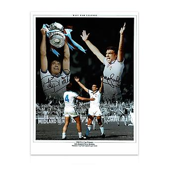 West Ham-bilde signert av Trevor Brooking og Billy Bonds: FA-cupfinalen i 1980