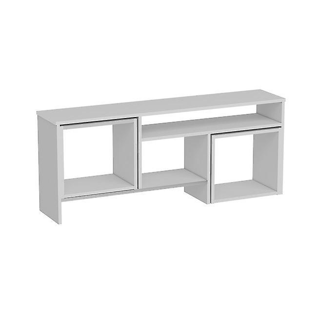 Mobile Porta TV Kasa Colore Bianco in Truciolare Melaminico, L141xP29,5xA57cm