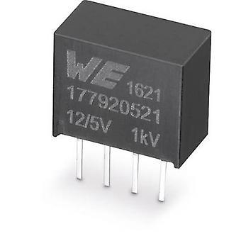 Würth Elektronik 177920521 DC/DC-konverter (print) 12 V 5 V 0.2 A 1 W Nr. af udgange: 1 x