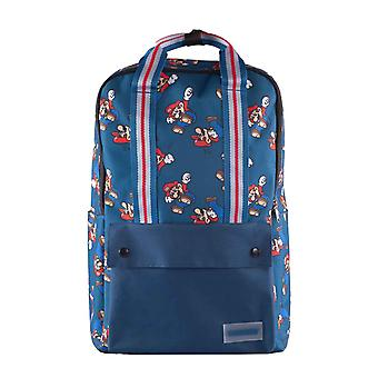 Super Mario Backpack Mario All Over Print new Official Nintendo Blue Unisex