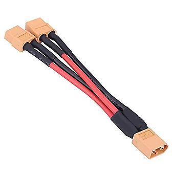 YUNIQUE DEUTSCHLAND FS-94TA-W4DY XT6014AWG 1 Stück XT60 Steckverbinder Adapterkabel für parallele Batterie 14AWG Kabel für RC Lipo (1 Buchse auf 2 Männer) Giallo Rosso Nero