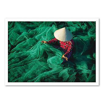Art-Poster - La rete da pesca - Patrick Foto 50 x 70 cm