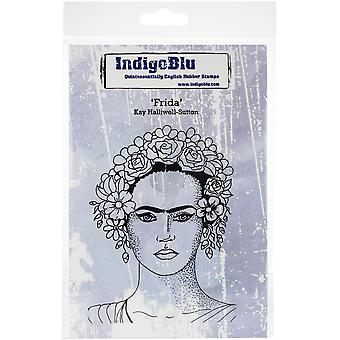"IndigoBlu Cling Mounted Stamp 5""X4""-Frida"