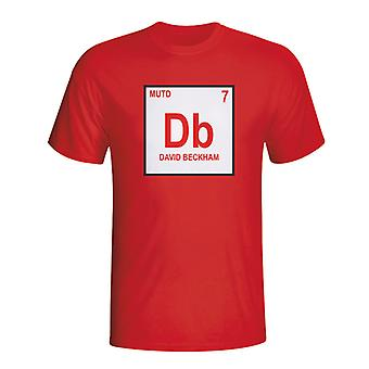 David Beckham camiseta tabla periódica del Man Utd (rojo)
