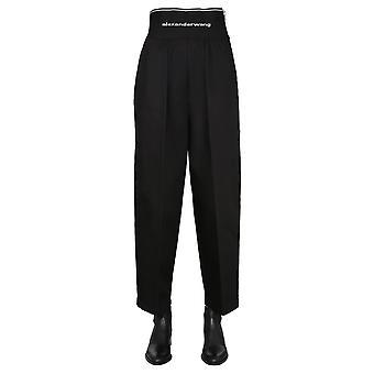 Alexander Wang 1wc1204234001 Women's Black Cotton Pants