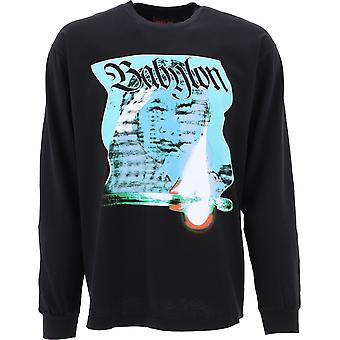 Babylon La F101042blk Men's Black Cotton Sweater