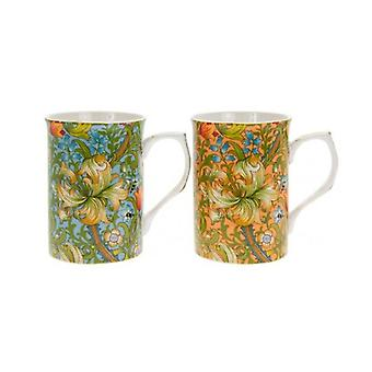 Golden Lily Mugs (Set of 2)