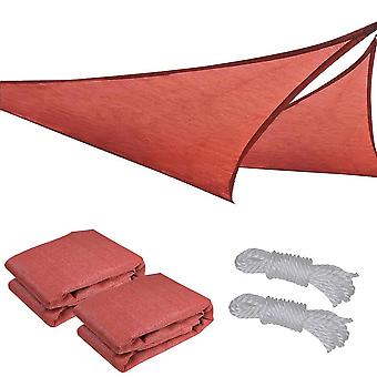 2x 11.5' Triangle Sun Shade Sail Patio Deck Beach Garden Yard Outdoor Canopy Cover UV Blocking (Dark Red)