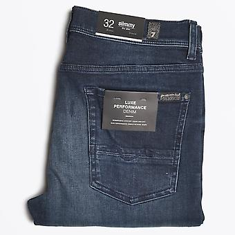 7 For All Mankind - Slimmy Dark Wash Jeans - Donkerblauw