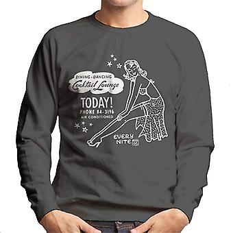 Route 66 diner dansen cocktail lounge heren Sweatshirt