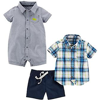 Simple Joys by Carter's Baby Boys' Infant 3-Piece Playwear Set, Chambray/Blue...
