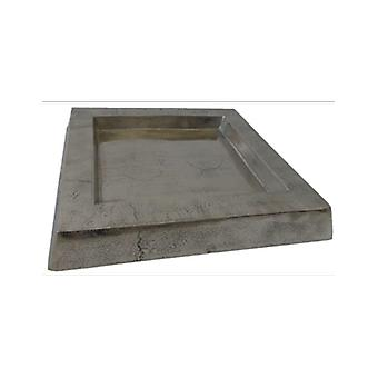 Deco4yourhome Square Tray Old Metal