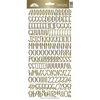 Doodlebug Design Goldfolie Sonnenschein Aufkleber