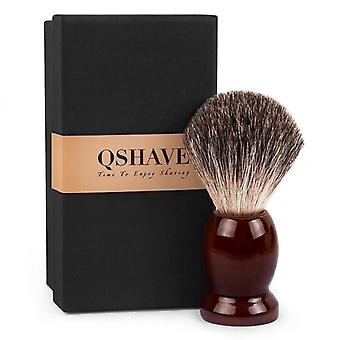 Man Pure Badger Hair Shaving Brush Wood- Double Edge Safety