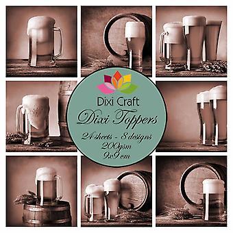 Dixi Craft Dixi Toppers Beer - Sepia 9x9cm