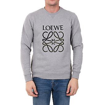 Loewe H526341xa11440 Men's Grey Cotton Sweatshirt