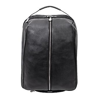 """18885, U Series, South Shore 17"""" Leather, Carry-All, Laptop & Tablet Overnight Backpack - Black"""