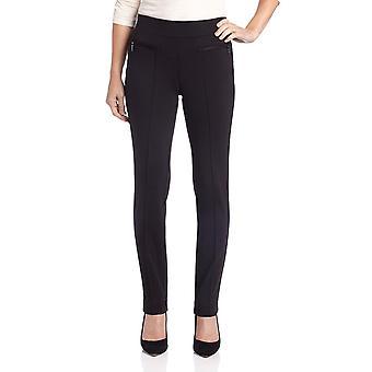 Rafaella Women's Ponte Comfort Slim Leg Pant, Black, 16
