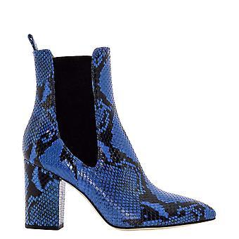 Paris Texas Px125xpn01bluette Women's Blue Leather Enkellaarsjes