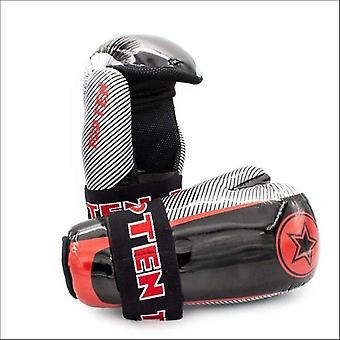 Top ten limited edition glossy star & stripes pointfighter gloves black/silver/red