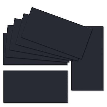 Tummansininen. 210mm x 200mm. DL (pitkä reuna). 235gsm taitettu kortti tyhjä.