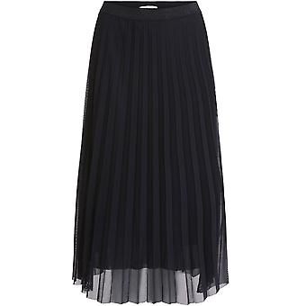 Oui Svart Plissera kjol