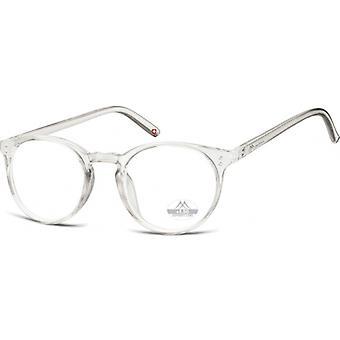 Läsglasögon Unisex HMR55 genomskinlig tjocklek +2,00